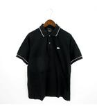 ラコステ LACOSTE EDITION LIMITEE ポロシャツ 半袖 銀ワニ 黒 ブラック 4 L