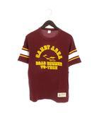 チェスウィック CHESWICK 東洋 ROAD RUNNER Tシャツ 半袖 プリント ライン ロゴ コットン カナダ製 ボルドー系 S