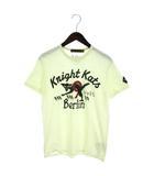 ジョンソンモータース Johnson Motors KNIGHT KATS Tシャツ 半袖 カットソー プリント USA製 アイボリー系 S