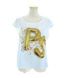 ポールスミス PAUL SMITH Tシャツ カットソー フレンチスリーブ PSバルーン プリント KKPSYM0454 水色 白 M