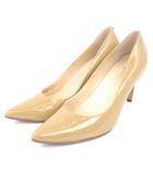 コールハーン COLE HAAN ナイキエア NIKE AIR パンプス ポインテッドトゥ エナメル ベージュ 6.5B シューズ 靴