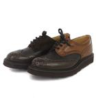 ネペンテス NEPENTHES トリッカーズ Tricker's 別注 Multi tone Derby Brogue バートン ダービーシューズ レザー マルチトーン M5633 茶系 7 靴