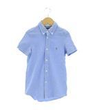 ポロ ラルフローレン POLO RALPH LAUREN シャツ 半袖 ボタンダウン 鹿の子 青 ブルー 7 130