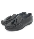 アシックス asics pedala ローファー タッセル 黒 ブラック 22 シューズ 靴 小さいサイズ