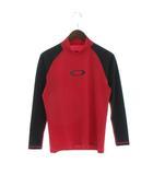 オークリー OAKLEY LS PRESSURE 7.0 ラッシュガード インナー アンダーシャツ スポーツウエア 長袖 ラグランスリーブ 482102JP 赤 黒 レッド ブラック L