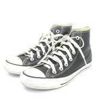コンバース CONVERSE オールスター スニーカー ハイカット レザー 黒 ブラック 24.5 シューズ 靴