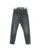 リーバイスプレミアム Levis PReMIUM 501 R SKINNY COAL BLACK デニム パンツ スキニーフィット ハイライズ USED加工 29502-0063 黒系 ブラック系 24 26