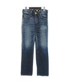 リー LEE デニム パンツ ジーンズ バギー USED加工 コットン インディゴ 青 ブルー XS