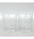 ティファニー TIFFANY & CO. ボウ グラス ペア セット リボン クリスタル クリア 食器