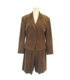 ルイシャンタン Lui Chantant セットアップ スーツ テーラードジャケット ショート パンツ キュロット コーデュロイ 太畝 茶 ブラウン 38