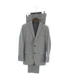 アバハウス ABAHOUSE スーツ セットアップ テーラードジャケット ブレザー 2B ストライプ ウール混 グレー 1