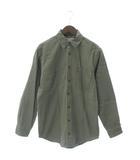 エルエルビーン L.L.BEAN シャツ ジャケット 長袖 ワーク 裏地チェック コットン 緑 カーキ