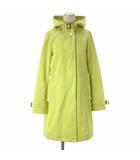 トラディショナルウェザーウェア Traditional Weatherwear DELVINE フーデッド コート ミドル コットン 黄 イエロー系 32 アウター