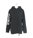 ダブルスタンダードクロージング ダブスタ DOUBLE STANDARD CLOTHING パーカー スウェット プルオーバー スリーブロゴ プリント 黒 ブラック F