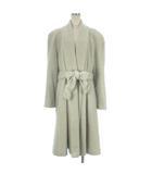 クリスチャンディオール Christian Dior コート ロング ウール ショールカラー ベルト アイボリー系 11 アウター