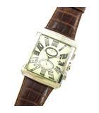 マーベルティーム MAVERTEAM 腕時計 アナログ クォーツ スクエア 3針 レザー シルバー ブラウン系 ジャンク