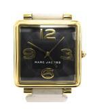 マークバイマークジェイコブス MARC by MARC JACOBS 腕時計 ウォッチ VIC34 ヴィク 3針 アナログ クォーツ スクエア MJ1440 黒 白 ゴールド ブラック ホワイト