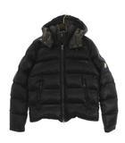 モンクレール MONCLER ダウンジャケット フード ナイロン ダブルジップ ロゴ 53029 黒 ブラック 2 アウター ■SM