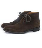 バーニーズニューヨーク BARNEYS NEW YORK ショートブーツ チャッカブーツ スエード 無地 6 1/2 茶 ブラウン 靴 ■SM
