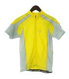 Cannondale キャノンデール サイクリングウェア 半袖 ジップアップ ジャケット M 黄色 イエロー 上着 ■SM
