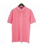 ポロ ラルフローレン POLO RALPH LAUREN ポロシャツ 半袖 ワンポイント 鹿の子 ピンク XL ■SM