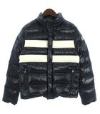 モンクレール MONCLER ダウンジャケット THOMAS トーマス ライン ロゴ 紺 白 ネイビー ホワイト 1 ■SM