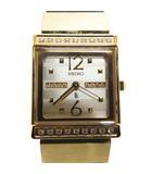 セイコー SEIKO ルキア LUKIA  カリテ QUALiTE ダイヤ文字盤 ダイヤベゼル ダイヤリューズ SSQX002 腕時計 アナログ クォーツ ステンレス ゴールドカラー