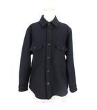 ヤエカ YAECA LIKE WEAR C.P.O SHIRT シャツ ジャケット ブルゾン ウール 無地 78151 34 紺 ネイビー 上着