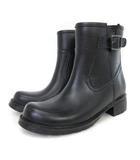あしながおじさん ブーツ レイン ショート エンジニア風 7301271 黒 ブラック S 靴 シューズ