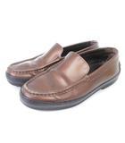 トッズ TOD'S ローファー ドライビングシューズ メタリック レザー 茶 ブラウン 37.5 シューズ 靴 ■SM