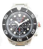 セイコー SEIKO 腕時計 ダイバーズウォッチ ソーラー クロノグラフ SSC015PC V175-0AD0 シルバー ブラック系 ■SM