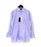 アクアスキュータム AQUASCUTUM シャツ 長袖 胸ポケット コットン 紫 パープル 41-82 ■SM