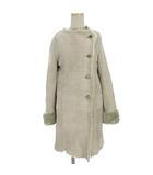 スピック&スパン ノーブル Spick&Span Noble コート ムートン 羊革 ノーカラー ベージュ系 38 アウター