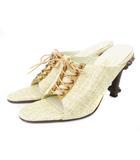 グレースコンチネンタル GRACE CONTINENTAL サンダル レースアップ ベージュ 茶 ブラウン シューズ 靴