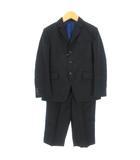 コムサイズム COMME CA ISM スーツ セットアップ テーラードジャケット ハーフパンツ フォーマル 入学式 卒園式 結婚式 黒 ブラック 130 男の子 ■VP