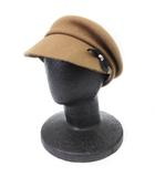 カシラ CA4LA キャスケット ベレー帽 リボン ウール 茶 ブラウン系 帽子