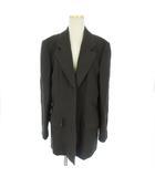 レオナール LEONARD ジャケット テーラード ブレザー 長袖 シングル ウール 絹 シルク混 茶 ブラウン 11AR ■SM
