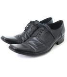 キャサリンハムネットロンドン KATHARINE HAMNETT LONDON ビジネスシューズ レザー 外羽根式 ストレートチップ 黒 ブラック 25.5 靴 ■SM