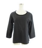 マーガレットハウエル MARGARET HOWELL シャツ ブラウス カットソー 七分袖 578-153406 黒 ブラック 2