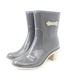 ブリジットバーキン Bridget Birkin サイドプレート リボン レインブーツ 長靴 グレー S シューズ 靴 ■SM