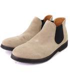 グリーンレーベルリラクシング ユナイテッドアローズ green label relaxing ブーツ サイドゴア スエード レザー 197-32-0118 ベージュ ブラック系 8.5 靴 ■SM