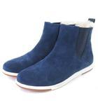 エミュー emu Chelsea W11289 ブーツ サイドゴア スエード 青系 Ink Blue Marine 25 靴 ■SM