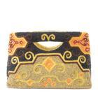 モイナ MOYNA バッグ ハンド ポーチ パーティー ビーズ 刺繍 茶系 ブラウン系 鞄