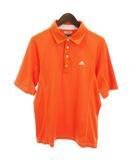 アディダス adidas ポロシャツ 半袖 メッシュ CLIMACOOL スポーツ ゴルフウエア トレーニング オレンジ M