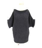 23区 オンワード樫山 セーター 5分袖 ニット 無地 グレー 32 小さいサイズ