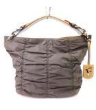 フルラ FURLA ハンドバッグ トートバッグ ギャザー レザー カーキ ベージュ系 鞄 ■SM