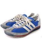 アディダス adidas スニーカー ランニングシューズ エスエル SL72 ブルー グレー ホワイト系 26 靴 ■SM