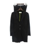 ポールスミス PAUL SMITH スーツ セットアップ パンツ テーラードジャケット ロング コットン 黒 ブラック 40