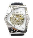 コグ COGU 腕時計 自動巻き アナログ 3針 レザー シルバー 黒 ブラック