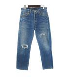 リーバイス Levi's 501-0115 デニム パンツ ストレート ジーンズ ボタンフライ ダメージ加工 ブルー W30 L30